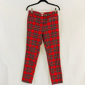 Red Plaid H&M Pants Size 10- Great for Halloween